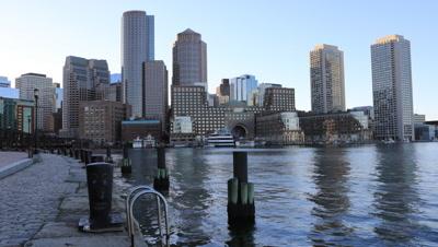 4K UltraHD Tight timelapse of the Boston city center