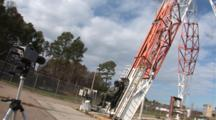 An Ejection Seat Testing Facility Where Pilot Equipment Is Tested In A Simulated Pilot Ejection, Timelapse Clouds.