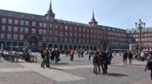 A Plaza In The Middle Of Madrid, Spain.  Tourist Attraction.