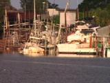 Tarpon Springs Florida - Sunken Boats In Harbor