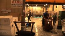 Tsukiji Fish Market, Tokyo - Whole Bluefin Tuna Travel By On People Powered Carts