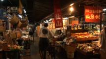 Tsukiji Fish Market, Tokyo - Person & Bicycle Walk Through Vegetable Market