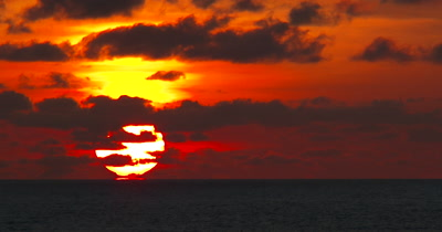 A Tropical Sunset Timelapse Over a Resort Location on the Island of Roatan, Honduras