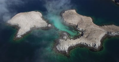 Aerial pan of Islands
