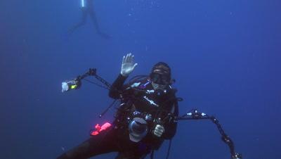 3D Scuba Diver Footage
