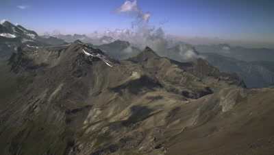 TIme-lapse of clouds and Swiss Alps.