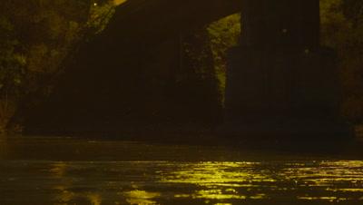 Bridge on the Danube at night