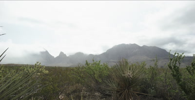 clouds over mountains - Big Bend National Park