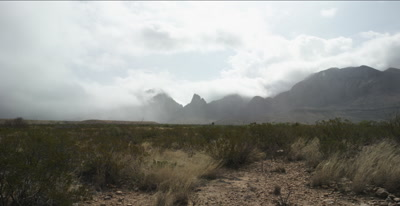 clouds and rain and mountains - Big Bend National Park
