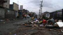 Japan Tsunami Aftermath - Trash Filled Street In Ishinomaki City
