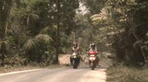 Volcanic Ash Coats Rural Road After Merapi Volcano Eruption