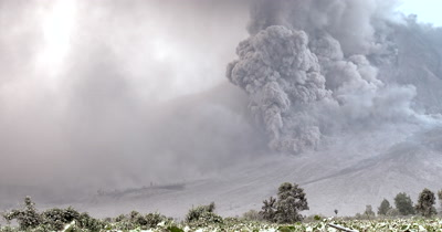 Massive Volcanic Eruption Ash Cloud