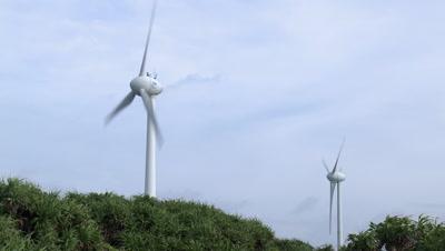 Renewable Wind Energy Turbine In Gale