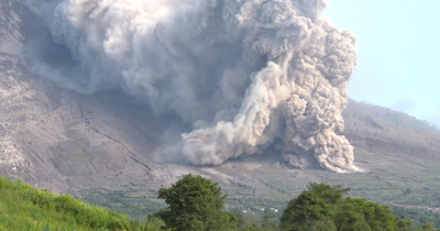 Sinabung Volcano Unleashes A Large Pyroclastic Flow During Eruption