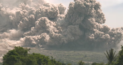 Huge Volcanic Eruption Pyroclastic Flow Destroyed Farmland