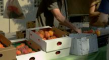 Peaches For Sale At Farmers Market