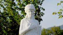 Chateau In Oregon, Marble Statue Of Grecian Woman