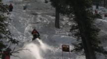 Tracking A Snowmobiler Doing A Hill Climb.