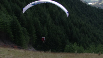 Paraglide Stock Footage