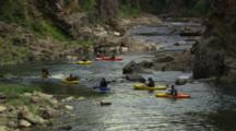 Zoom From Beautiful River Scenic To Kayakers.