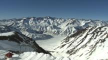 Wide Scenic Of A Ski Resort.