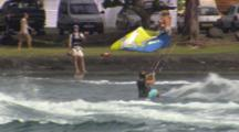 Tracking A Kiteboarder Doing Some Air.