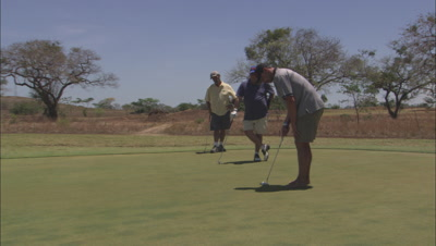Tracking A Golfer Sinking A Putt.