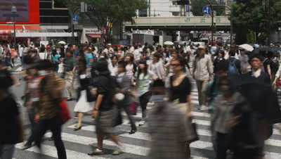 Time Lapse Pedestrians On Busy Tokyo Street