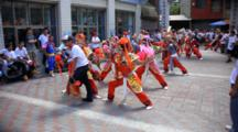 Traditional Dancers In Tainan, Taiwan