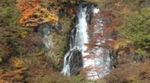 Fall Trees Near Kirifuri Waterfall In Nikko, Tochigi, Japan