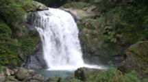 Waterfall Empties Into Pool, In Urai, Taiwan