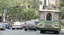 Cars Driving On Street In Honolulu, Hawaii