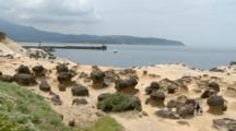 Strange Shaped Rocks At Beach In Yeliu, Taiwan