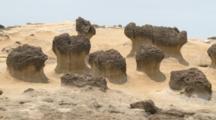 Close Up Strange Shaped Rocks At Beach In Yehliu, Taiwan