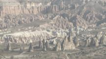 Overlook View Of Rock Formations In Cappadocia, Turkey