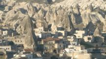 Rock Houses And Formations In Cappadocia, Turkey