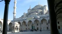 People Entering The Blue Mosque In Istanbul, Turkey