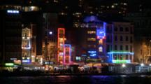City Lights, Illuminated Buildings In Istanbul, Turkey