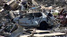 Car Crashed By Tsunami In Japan