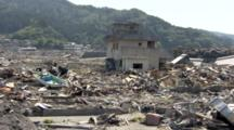 Area Devastated By Tsunami Occurred On March 11, 2011 In Japan