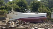 Devastated Area By Tsunami Occurred On March 11, 2011 In Japan