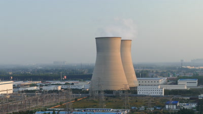 Smoke Emanating from the Thermal Power Plant, Yanjiao, Hebei, China