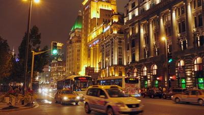 The Shanghai Bund at Night, China