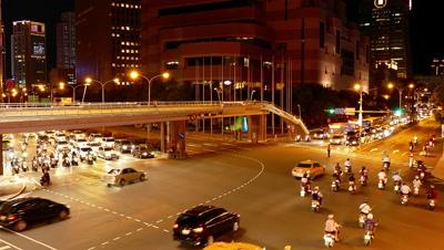 Hustle Traffic in Taipei, Taiwan