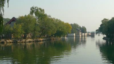 Kunming Lake in the Summer Park, Beijing, China