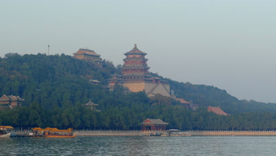 Kunming Lake Cruise in the Summer Park, Beijing, China