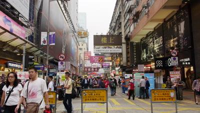 Bustling Ladies Street (Tung Choi Street ), Hong Kong, China