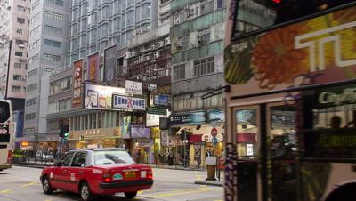 Street View of Tsim Sha Tsui, Kowloon, Hong Kong, China