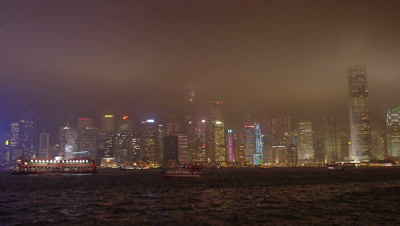 Light Show in Victoria Harbour, Hong Kong, China