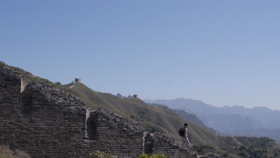 People Walking the Great Wall, Hebei, China